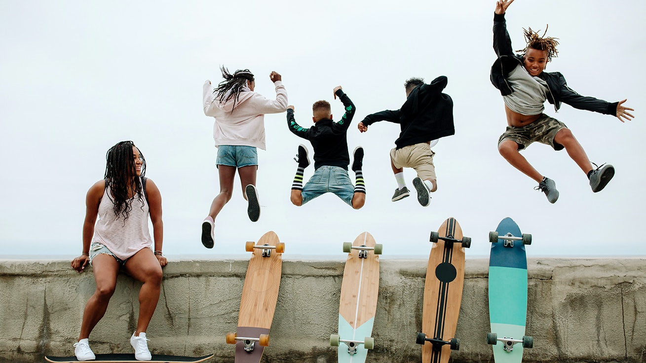 Kids with Skateboards