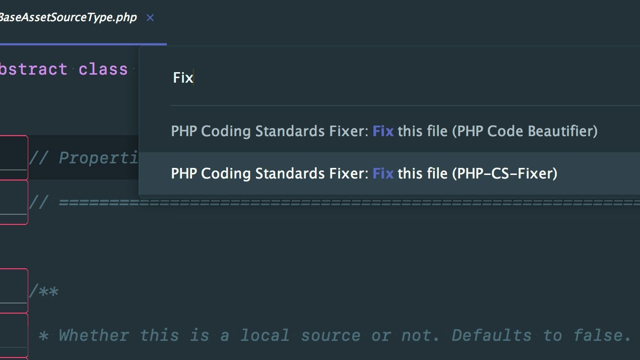 Club sublime text php cs fixer